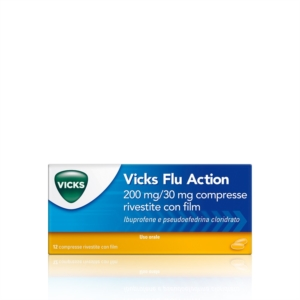 Vicks Flu Action 200 Mg/30 Mg Compresse Rivestite Con Film 12 Compresse In Blister